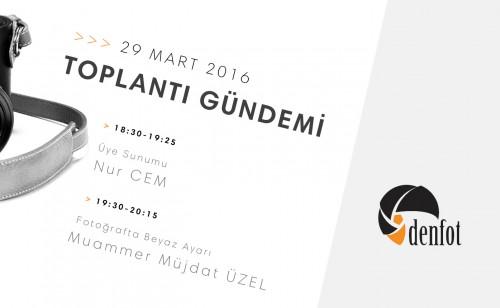 Denfot 29 Mart 2016 Haftalık Programı
