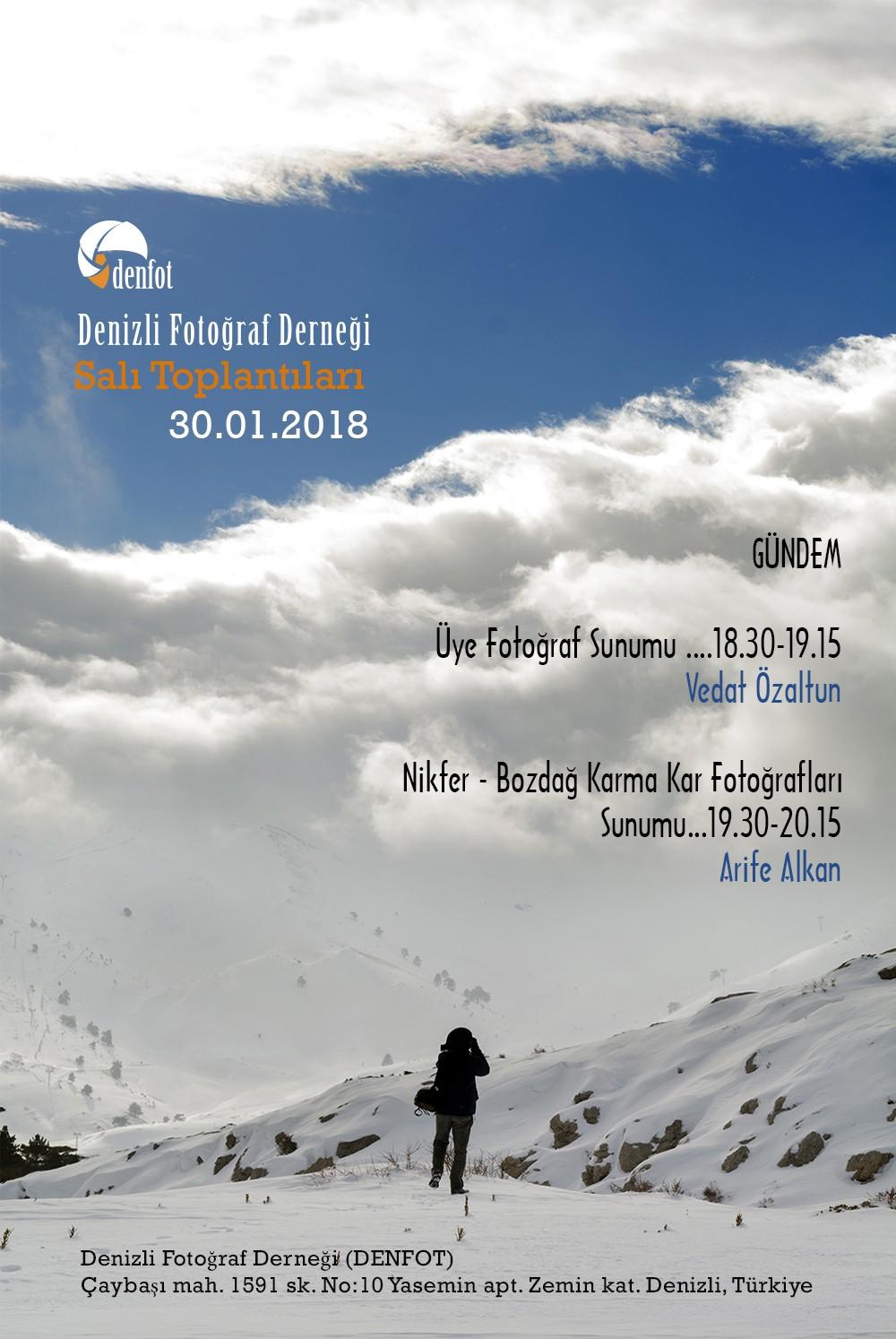 Denizli Fotoğraf Derneği 30.01.2018 Haftalık Programı