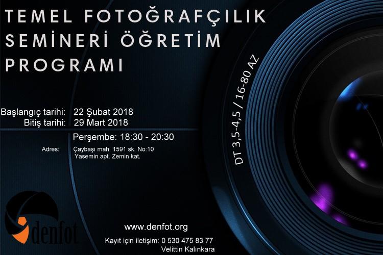 TEMEL FOTOĞRAFÇILIK SEMİNERİ ÖĞRETİM PROGRAMI