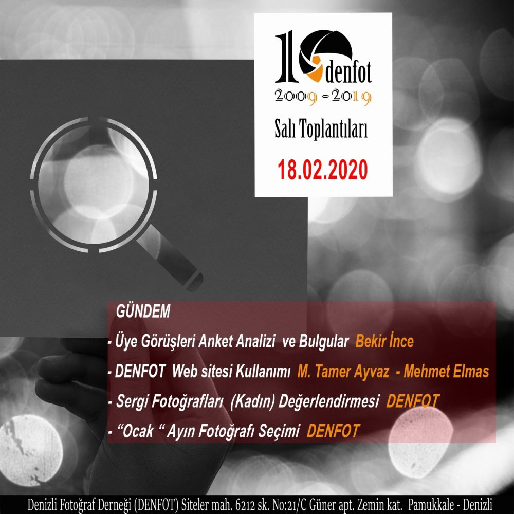 18.02.2020 Haftalık Program