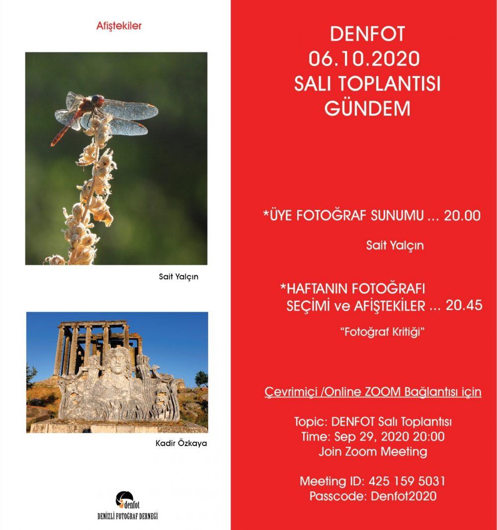 06.10.2020 Sunum Programı