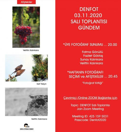 03.11.2020 Sunum Programı