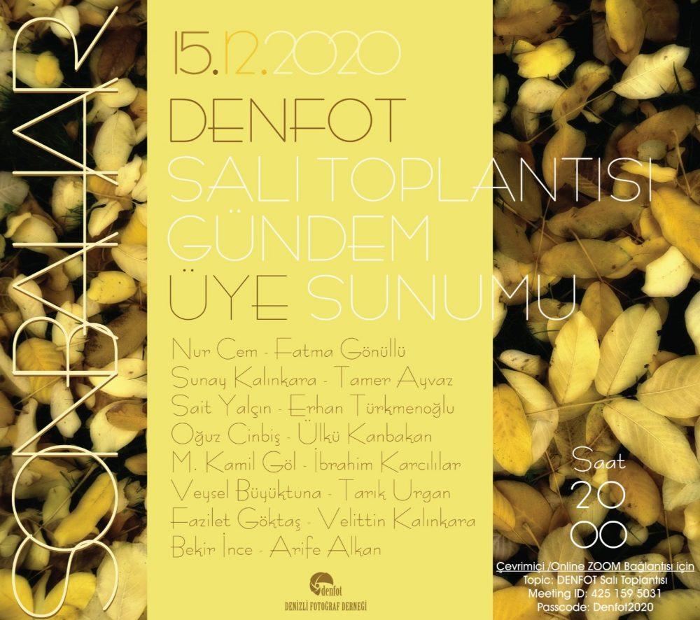 15.12.2020 Sunum Programı